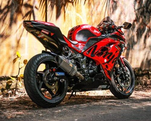 motorcykel-rød