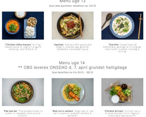 Stort udvalg af forskellige menuer hos dailynam.dk