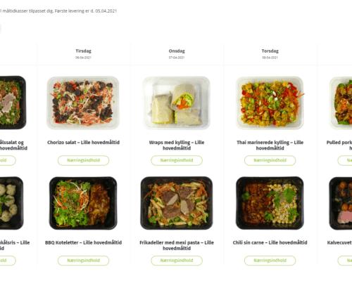 Mange måltider du selv kan vælge imellem