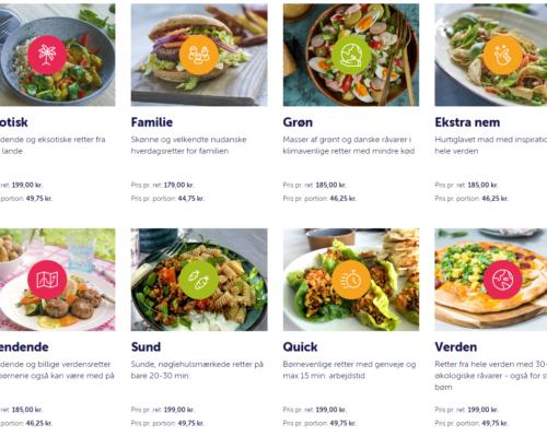 Stort udvalg af måltidskasser
