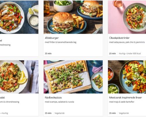 Ugens menu hos HelloFresh.dk